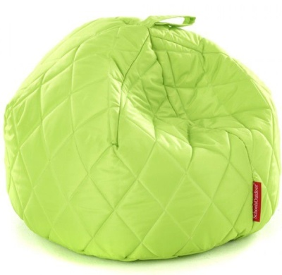 Sayu L;arge Quilted Bean Bag Lime Green