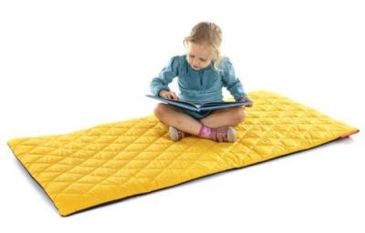Sayu Large Rectangular Mat In Yellow
