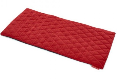 Sayu Rectangular Quilted Mat In Red