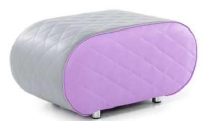 Sayu Small Elliptical Bench Grey And Purple