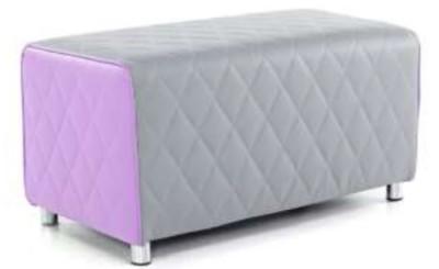 Sayu Two Seater Bench Sofa Purple And Grey