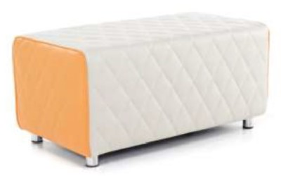 Sayu Two Seater Bench Orange And Light Grey