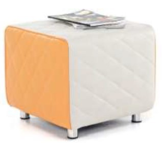 Sayu Cube Orange And Light Grey