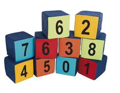 Pack Of 10 Numbered Seating Cubes 2