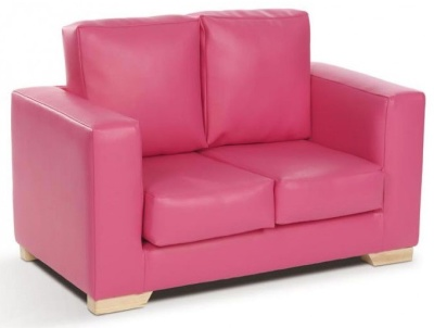 Roma Two Seater Sofa In PINK