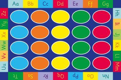 Rectangular ABC Floor Mat Graphic