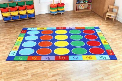 Rectangular ABC Floor Mat 1