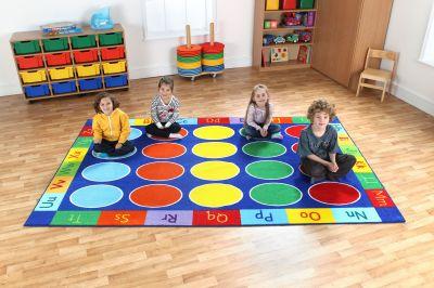 Rectangular ABC Floor Mat 2