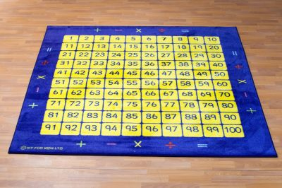 100 Square Counting Mat 1