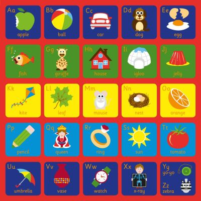 KMat Square Alphabet Mat Graphic