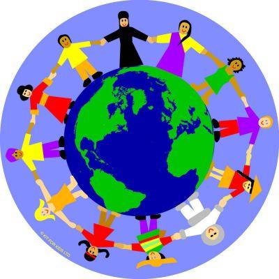 Children Of The World Multi Cultural Circular Mat Graphic