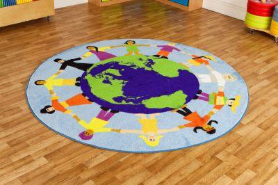 Children Of The World Muli Cultural Map 1