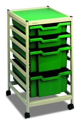 Gratnells Single Column Trolley With Shallow And Deep Drawers