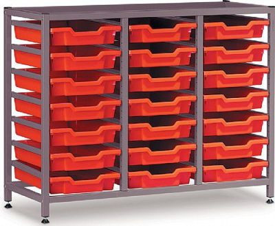 Gratnell Storage Rack With 3 Columns And 21 Trays