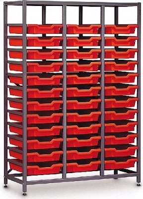 Gratnells Mid Storage Rack With 36 Trays