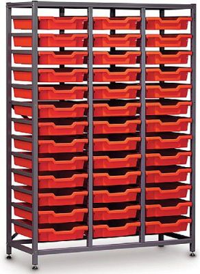 Gratnells Mid Storage Rack With 39 Trays