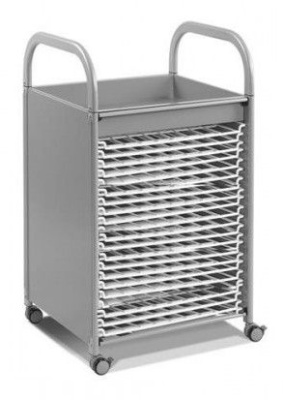 Callero Art Tray With Drying Racks Silver