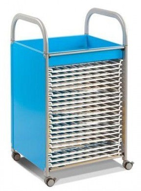 Callero Art Trolley With Drying Racks Cyan Blue Finish
