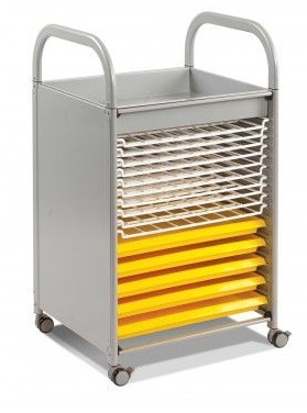 Callero Art Tray Trolly With Drying Racks In Silver