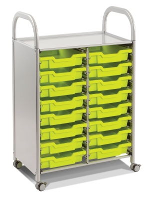 Callero Storage Trolley With 16 Trays