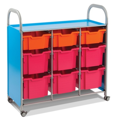 Callero Storage Trolley With Deep And Extra Deep Trays