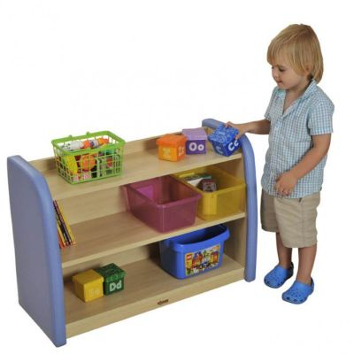 Toddler 2 Level Storage Cabinet