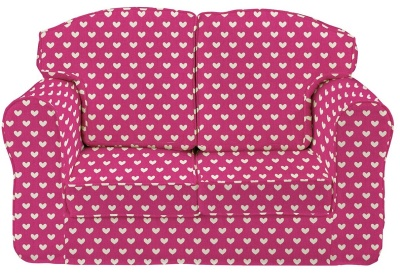 Pink Hearts Loose Cover Sofa