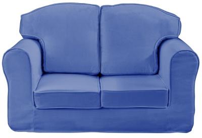 Plain Blue Loose Cover Sofa