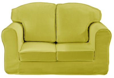 Plain Green Loose Cover Sofa