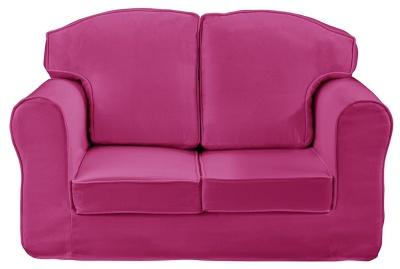 Plain Pink Loose Cover Sofa
