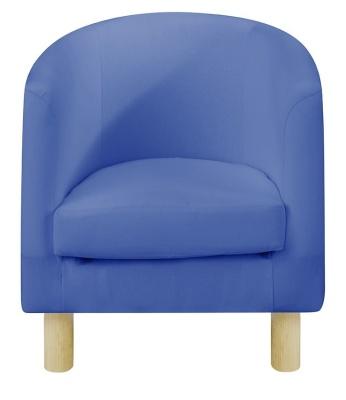 JK Plain Blue Tub Chair