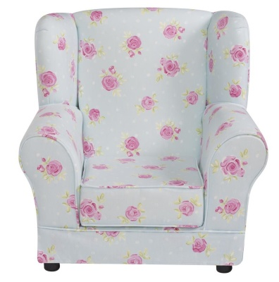 JK Country Flowers Wing Chair 1