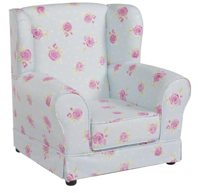 JK Country Flowers Wing Chair 2
