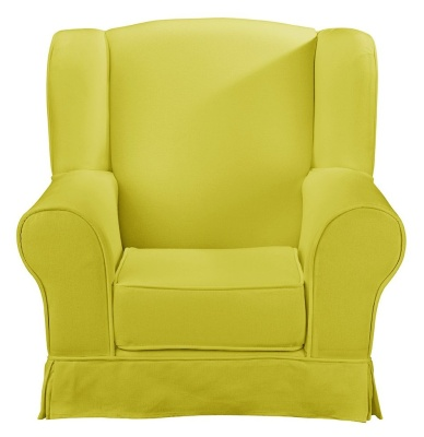 JK Plain Green Wing Chair