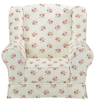 Rose Natural Wing Chair