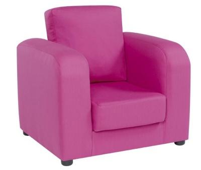 Plain Pink Armchair 2