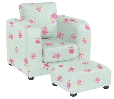 JK Country Flowers And Footstool