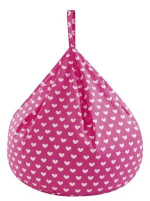 JK Pink Hearts Bean Bag