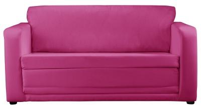 JK Plain Pink Sofa Bed
