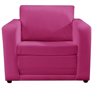 JK Plain Pink Chair Bed