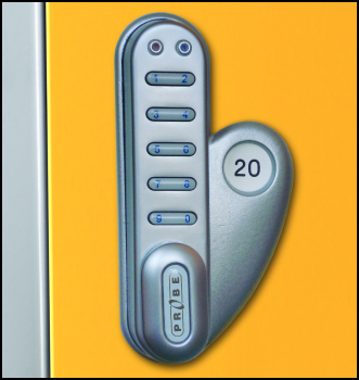 Digital Combination Lock For Use With Probe Lockers