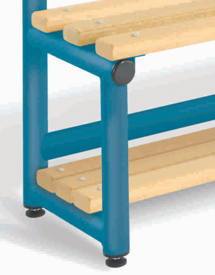 CL Single Coat Rack Bench With Storage Shelf