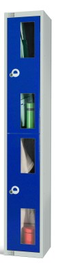 Two Door Locker With Vision Panels 450mm Deep