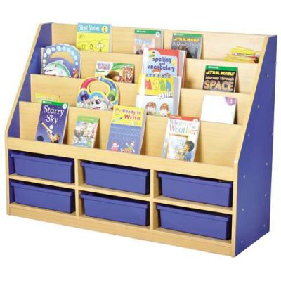 MLN 6 Tier Book Storage - 3 Small Trays