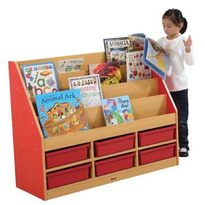 MLN 6 Tier Book Storage - 3 Small Trays 1