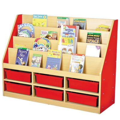 MLN 6 Tier Book Storage - 3 Small Trays 2