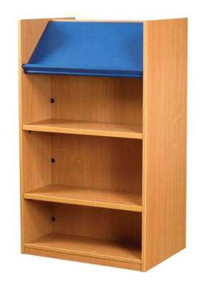 Nexus Double Sided Library Bookcase With Display Shelf 2