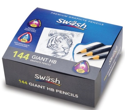 Komfigrip Class Pack Of 144 Giant Graphite Pencils