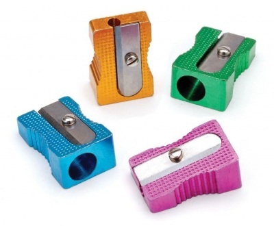Coloured Metal Single Hole Sharpener