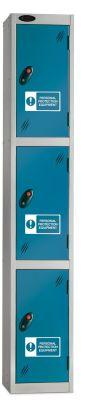 Three Door Metal PPE Locker Probe